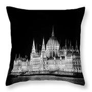 Orszaghaz At Night Throw Pillow