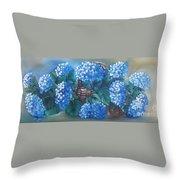 Ortencias Azules 2 Throw Pillow
