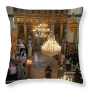Orthodox Mass Throw Pillow