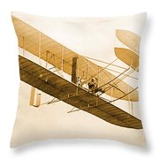 Orville Wright In Wright Flyer 1908 Throw Pillow