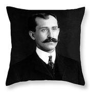 Orville Wright Portrait - 1905 Throw Pillow
