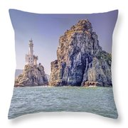Oryukdo Islands, Busan, South Korea Throw Pillow