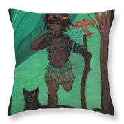Osain Throw Pillow by Gabrielle Wilson-Sealy