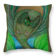 Wadjet Osain Throw Pillow by Gabrielle Wilson-Sealy