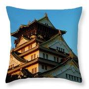 Osaka Castle Near Twilight Throw Pillow