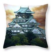 Osaka Castle Still Rules Japan Throw Pillow