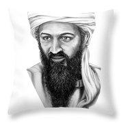 Osama Bin Laden Throw Pillow