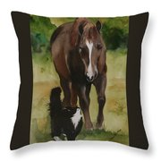 Oscar And Friend Throw Pillow