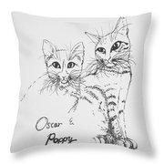 Oscar And Poppy Throw Pillow