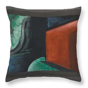 Oscar Bluemner, Study For Approaching Black, 1932 Throw Pillow