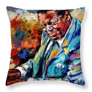 Oscar Throw Pillow by Debra Hurd