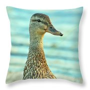 Oscar Le Canard Throw Pillow