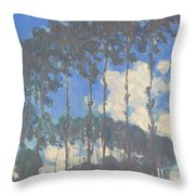 Oscar Monet   Poplars On The Epte Throw Pillow