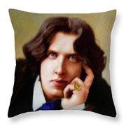 Oscar Wilde, Literary Legend Throw Pillow