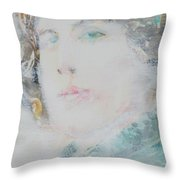Oscar Wilde - Watercolor Portrait.7 Throw Pillow