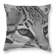 Oselot Throw Pillow