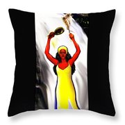Oshun -goddess Of Love -4 Throw Pillow by Carmen Cordova