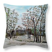 Oslo In Winter Throw Pillow