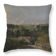 Osmington Village Throw Pillow