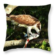 Osprey Dining Throw Pillow