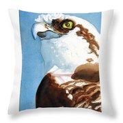 Osprey Eye Throw Pillow