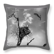 Osprey Nest Throw Pillow