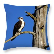 Osprey Nest Guard - 001 Throw Pillow