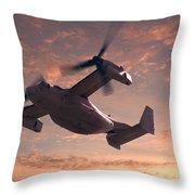 Ospreys In Flight Throw Pillow