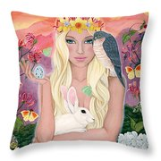 Ostara/spring Throw Pillow