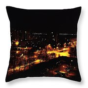 Ostrava At Night Throw Pillow