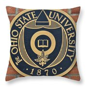 Osu Established Eighteen Seventy Throw Pillow
