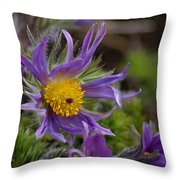 Otherworldly Flora Throw Pillow