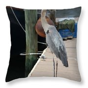 Otis..dock Of The Bay Throw Pillow