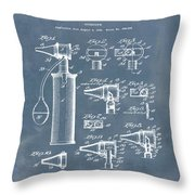 Otoscope Patent 1927 Blue Grunge Throw Pillow