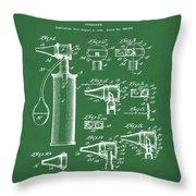 Otoscope Patent 1927 Green Throw Pillow