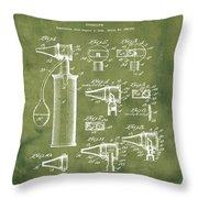 Otoscope Patent 1927 Grunge Throw Pillow