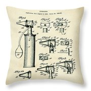 Otoscope Patent 1927 Old Style Throw Pillow