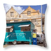 Otrobanda Barber Shpop Throw Pillow