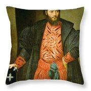 Ottaviano Grimani. Procurator Of San Marco Throw Pillow