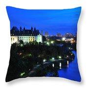 Ottawa At Night Throw Pillow