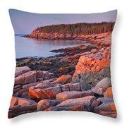 Otter Cliffs  Throw Pillow