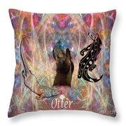 Otter Moon Throw Pillow
