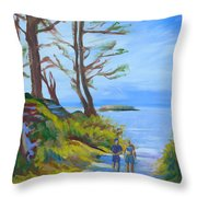 Otter Rock Marine Garden Path Throw Pillow