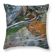 Otter Swirl Throw Pillow