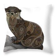 Otter Tangle Throw Pillow