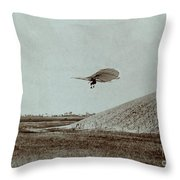 Otto Lilienthal Gliding Experiment Throw Pillow