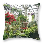 Ott's Greenhouse  Schwenksville Pennsylvania Usa Throw Pillow