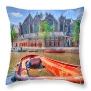 Oude Kerk Throw Pillow