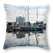Oulu From The Sea 1  Throw Pillow
