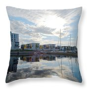Oulu From The Sea 2 Throw Pillow